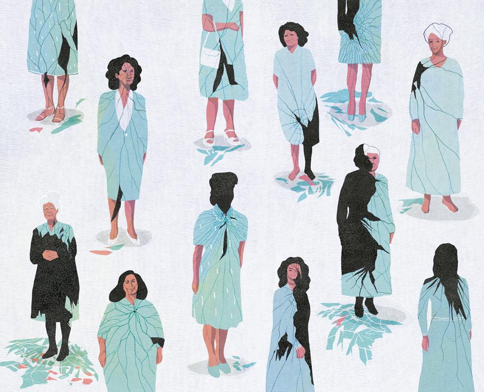 yasmine gateau, illustration, editorial illustration, citrus, femmes criminelles