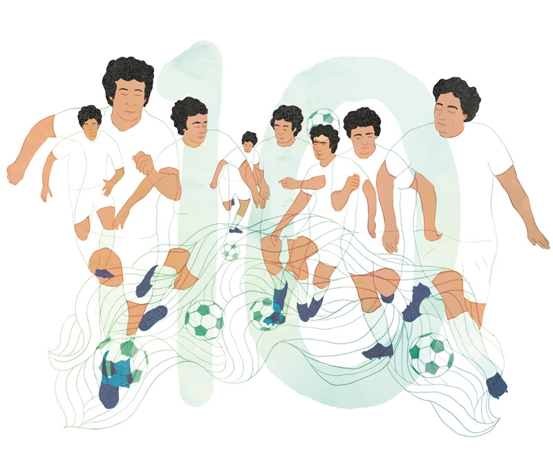 yasmine gateau, illustration, editorial illustration, citrus, rai, gol de letra, football, soccer