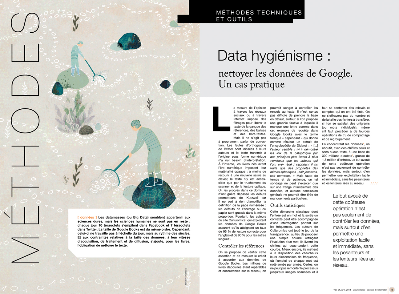 yasmine gateau, illustration, documentaliste, I2D, editorial illustration, data hygienisme