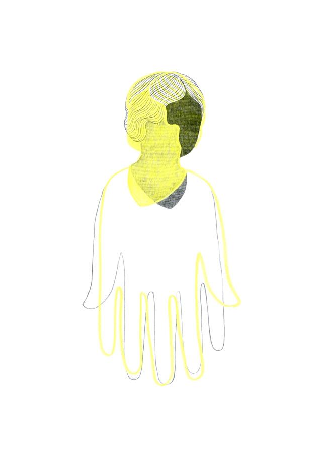 yasmine gateau, illustration, editorial illustration, helen keller, illustre boutique, ann sullivan