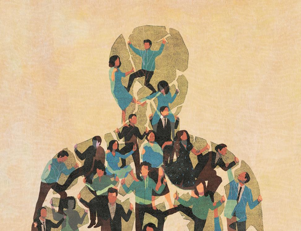 yasmine gateau, illustration, editorial illustration, le monde, vivre ensemble, forum du cese