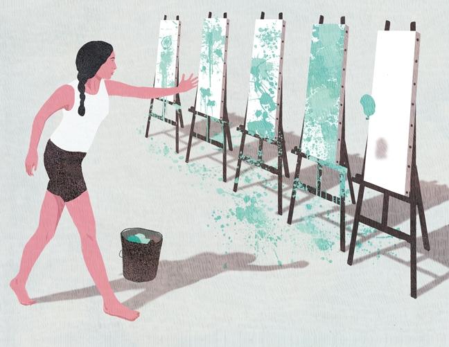 yasmine gateau, illustration, editorial illustration, le monde, concours quelle stratégie pour réussir