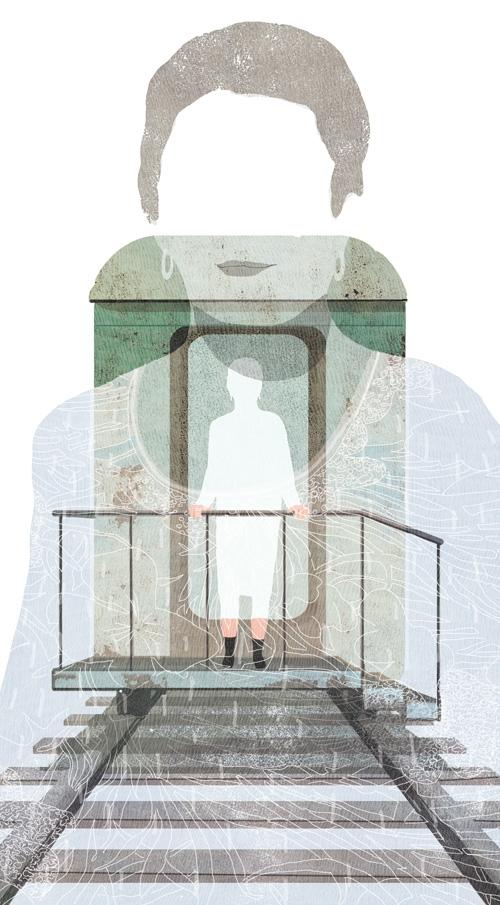 yasmine gateau, illustration, editorial illustration, le monde, le dernier voyage, suicide assistée,