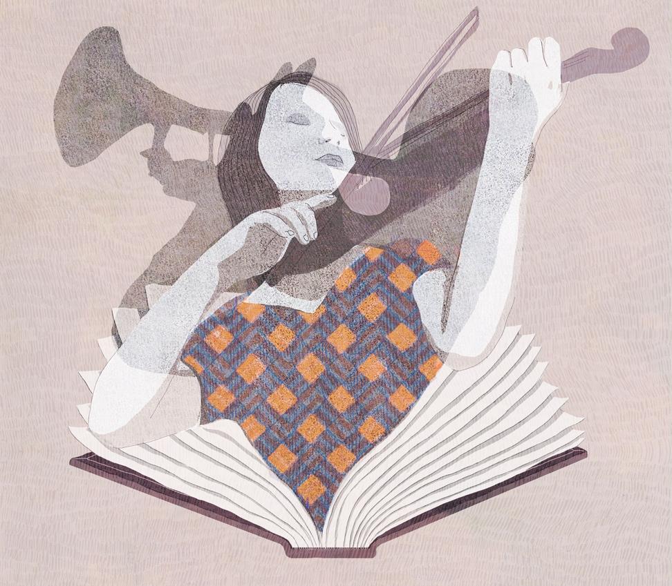 yasmine gateau, illustration, editorial illustration, le monde des livres, en avant la musique, music, musique, musiciens