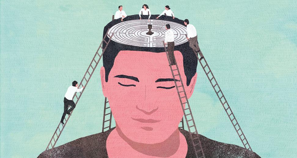 yasmine gateau, illustration, editorial illustration, le monde, concours quelle stratégie pour réussir, labyrinthe