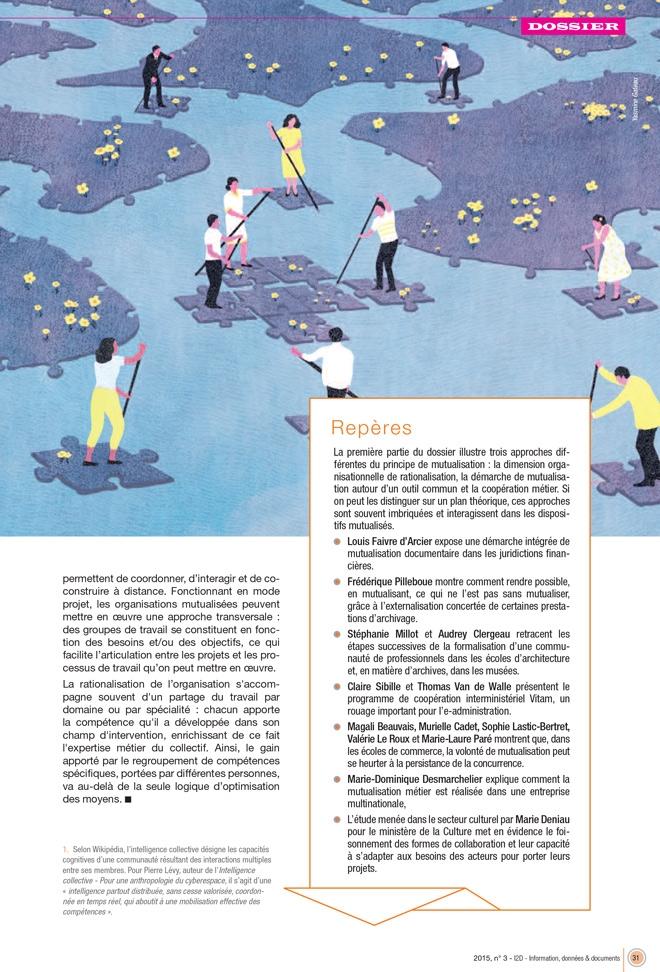 yasmine gateau, illustration, I2D, mutualisations, editorial illustration, water, rivière, river, puzzle