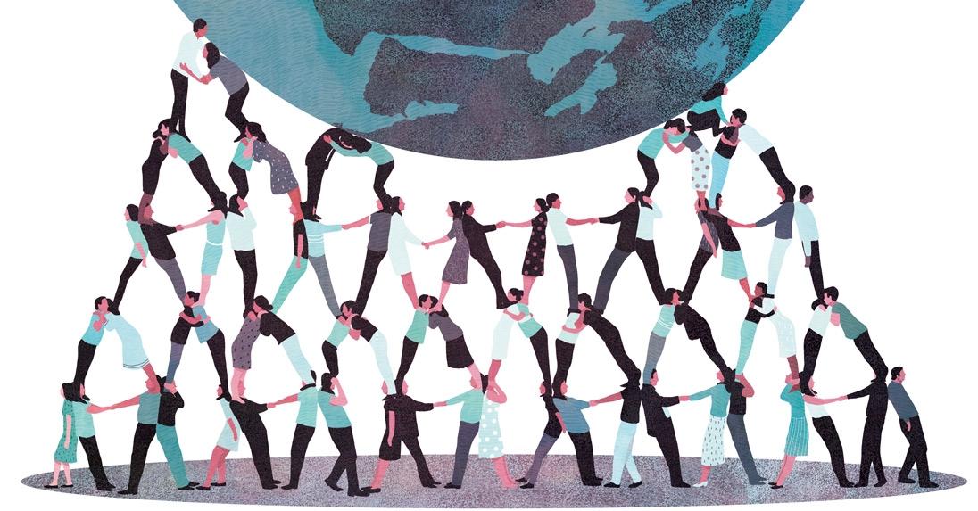 yasmine gateau, illustration, le monde, associations, citoyens, illustrations, editorial illustration