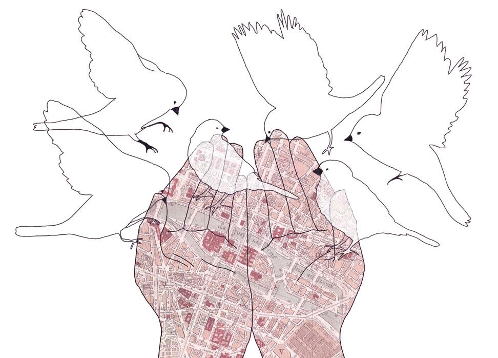 le monde, yasmine gateau, illustrations, editorial illustration