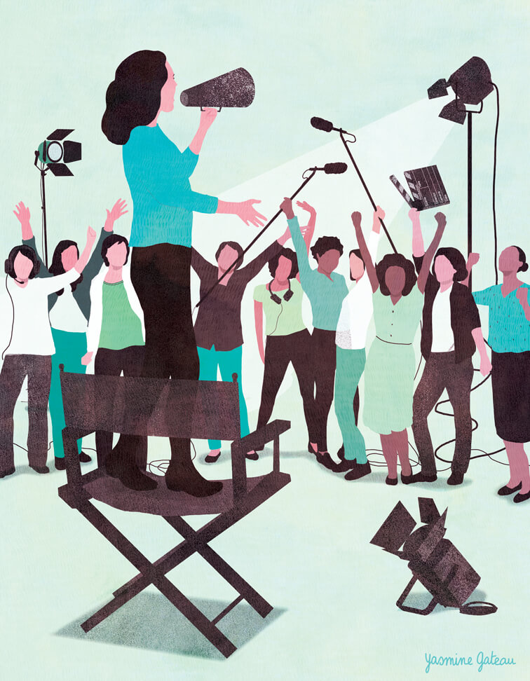 yasmine gateau, illustration, variety, editorial illustration, power of women, hollywood, cinema