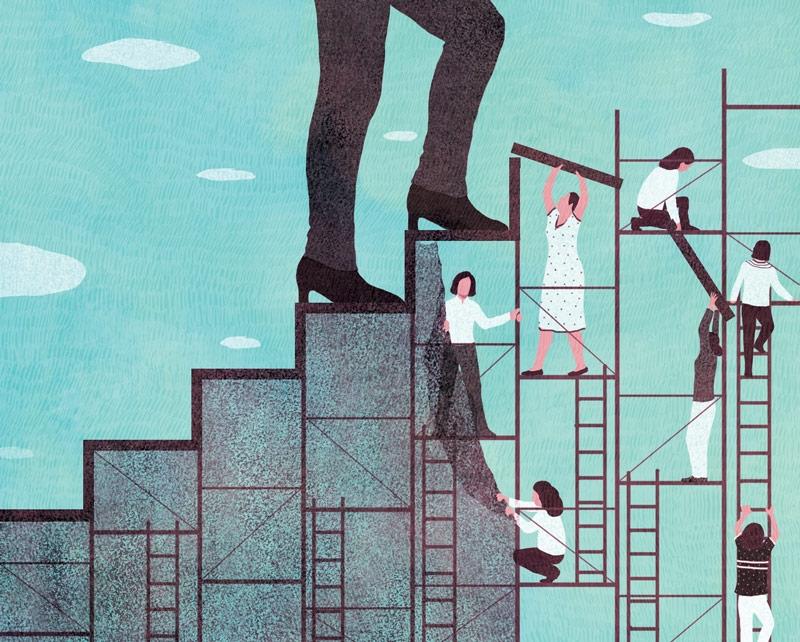 yasmine gateau, le monde, réseaux féminins, illustration