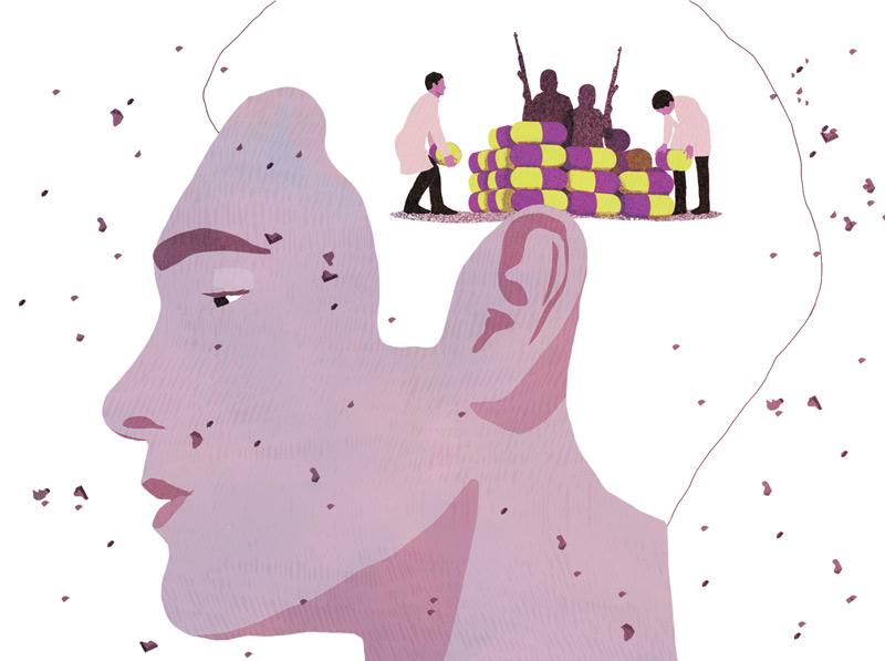yasmine gateau, illustration, le monde, est, stress post traumatique, attentat