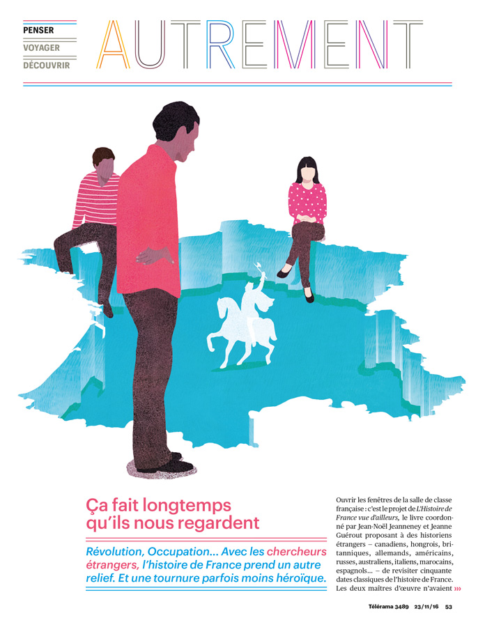 illustration, yasmine gateau, telerama, autrement