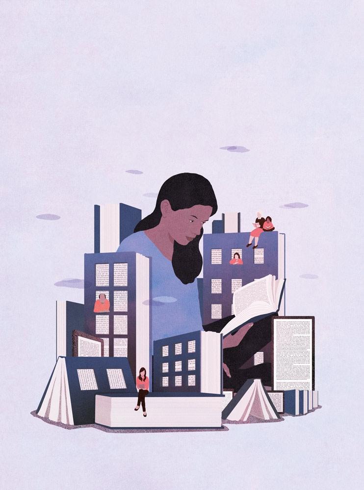 yasmine gateau, illustration, courbevoie mag, livre