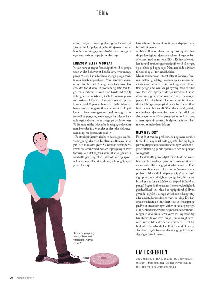 yasmine gateau, psykologi magazine, people and money