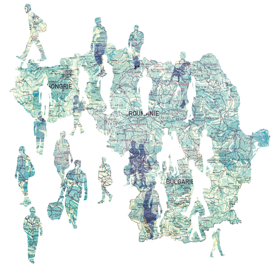 yasmine gateau, illustration, le monde, europe, baltes, cartographie